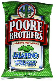 Poore Brothers Potato Chips Kettle Cooked Jalapeno 5 5 Oz