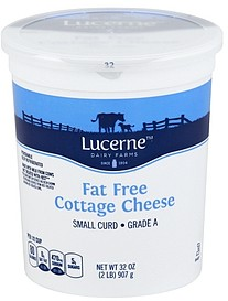 Lucerne Cottage Cheese Small Curd, Fat Free 32.0 oz ...