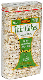 Suzie S Thin Cakes Brown Rice 3 5 Oz Nutrition Information