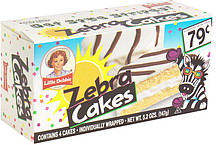 Little Debbie Zebra Cakes Pre Priced 4 0 Ea Nutrition