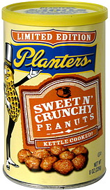 Planters Sweet N' Crunchy Peanuts 8.0 oz Nutrition Information ... on kettle sea salt and malt vinegar, kettle tilt drains, kettle steaming rack for food with,