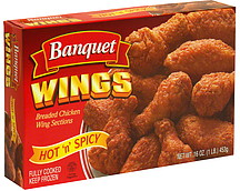 Banquet Breaded Chicken Wing Sections
