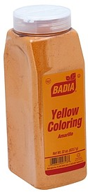 Badia Yellow Coloring Amarillo 22.0 oz Nutrition Information | ShopWell