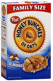Honey Bunches of Oats Cereal with Almonds, Family Size 19.0 oz ...