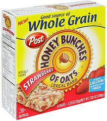 honey bunches of oats cereal bars strawberry 6 0 ea nutrition