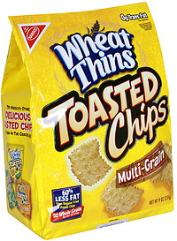 Wheat Thins Toasted Chips Multi-Grain 9 0 oz Nutrition