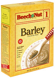 Beech Nut Cereal For Baby Barley Stage 1 8 0 Oz Nutrition
