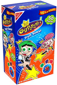Nabisco Fruit Snacks The Fairy Odd Parents Assorted