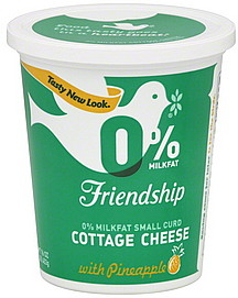 Friendship Cottage Cheese 0 Milkfat Small Curd With Pineapple