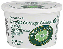 axelrod cottage cheese lowfat no salt added 1 milkfat 16 0 oz rh shopwell com no salt cottage cheese brands no salt added cottage cheese brands