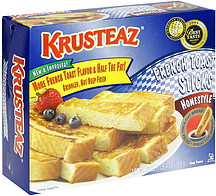 Krusteaz French Toast Sticks Homestyle 20.0 oz Nutrition ...