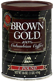 Brown Gold Colombian Coffee
