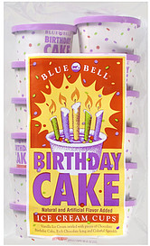 Blue Bell Ice Cream Cups Birthday Cake 120 Ct Nutrition Information