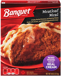 Banquet Meatloaf Meal 8 0 Oz Nutrition Information Shopwell