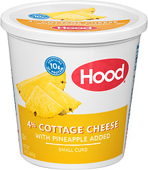 Hood Cottage Cheese 4 With Pineapple Added Small Curd 240 Oz